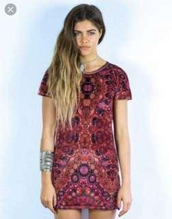 Liberated Heart velvet tshirt dress