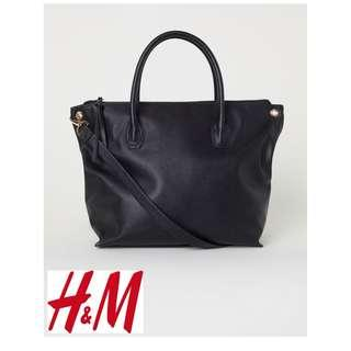 H&M Black Crossbody PU Leather HandBag