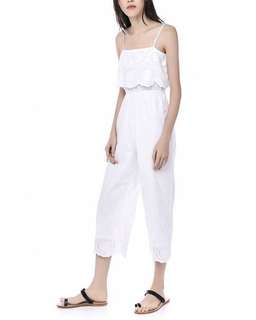 bc014f8cfd7 Editor s Market Dahilia Eyelet Jumpsuit in White