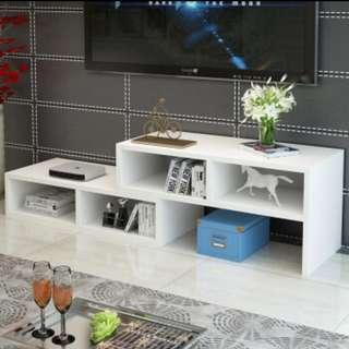 New White Extendable TV Console