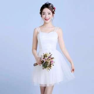 👗: (CHEAPEST RENTAL IN CAROUSELL) Short Lace Formal Evening Dress For ROM Solemnization