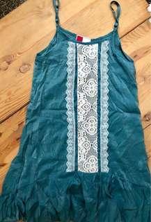 Blue navy by G200 metallic teal dress