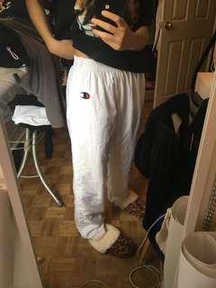 White champion track pants
