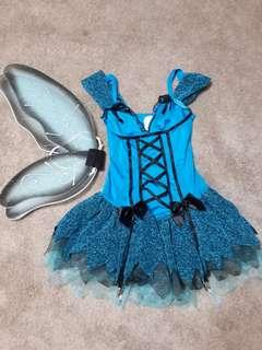 NEED GONE ASAP! Sparkly Fairy Costume with Wings! Leopard stuff included!