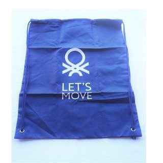 Benetton Let's Move Polyester Gym Sack Drawstring Bag
