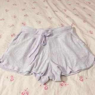 Uniqlo Airism terry comfy purple shorts • authentic