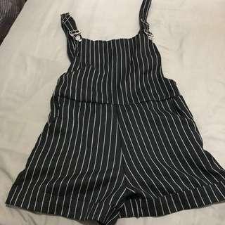 🍒🍒 Striped Overalls Versatile