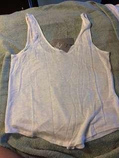 BNWT H&M white linen tank top