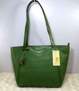 MICHAEL KORS Whitney SM Top Zip Leather Tote Bag-TRUE GREEN