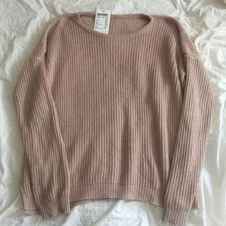 Brandy Melville Ollie Blush Pink Sweater