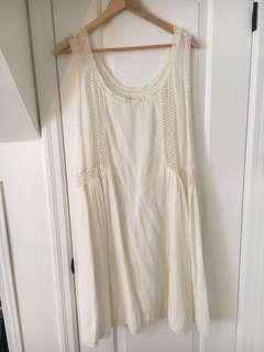 Aritzia white crotchet dress