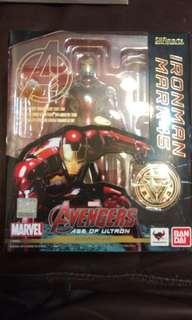 Bandai  shf Avengers Ironman mk 45 鐵甲奇俠 Mark XLV 復仇者聯盟2  二手