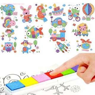 Kid Art & Craft Finger Painting Set (8pcs Different design) Children Diy Finger Paint Play Education Toys