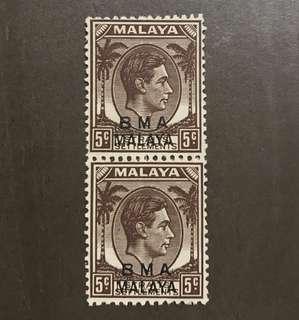 Singapore Straits BMA king George VI stamp mint (some gum toning)