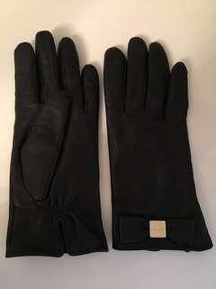 Authentic Kate Spade Bow Touchscreen Leather Gloves