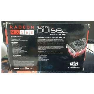 (RUSH) GPU - RX 560 Sapphire Pulse 4GB