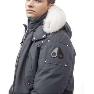 Moose Knuckle Winter Bomber Jacket Grey