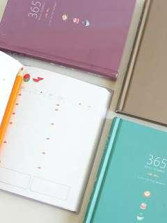 Pre-order! 365 Day Daily Planner Notebook - 3 colours (1)