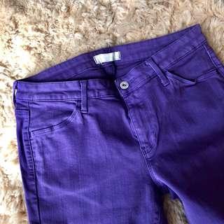 Uniqlo Purple Skinny Jeans