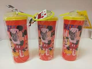 Mickey Mouse Water Tumbler x 3 (New)
