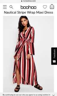 Bohoo striped dress