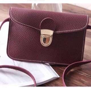TODAY PROMO Leather sling mini bag