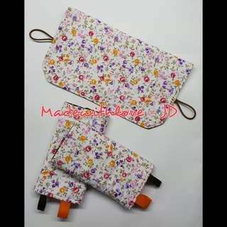 Padded drool pad with topper bib