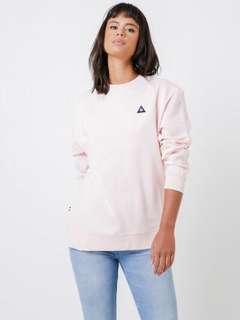 Le Coq Sportif Baby Nude Pink Carine Pullover Sweater Sweat Crewneck Jumper