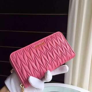 Mini Miu pink wallet