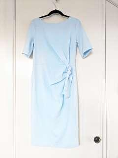 Light blue ASOS midi dress size AU12-14 | Perfect for weddings or events, corporate.