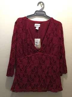 Millers 3/4 wrap lace top size 14