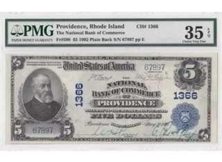 1902 Series United States $5 ~ Large Note !