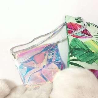 Holographic Sling Bag Korean Style