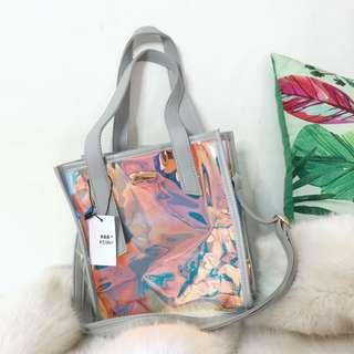 Holographic Sling Hand Bag Korean Style