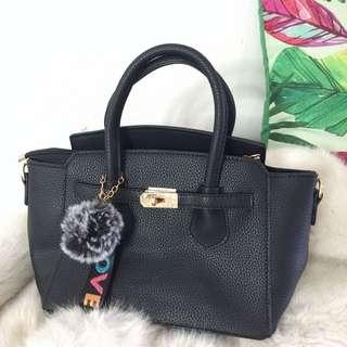 Black Sling Handbag Hermes Inspired Bag