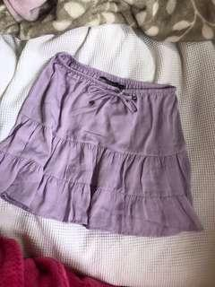 Lilac skirt glassons