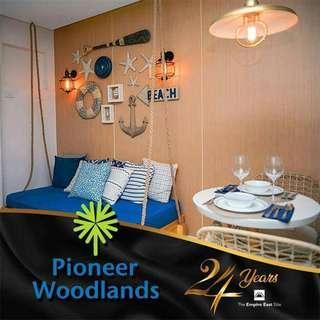 RFO RUSH RENT TO OWN CONDO AT PIONEER WOODLANDS STARTS AT 13K MO. WITH 5% PROMO DISCOUNT NEAR MANDALUYONG, MANILA, QUEZON CITY, PASIG, TAGUIG, SAN JUAN