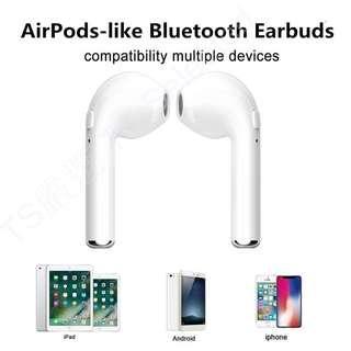 🚚 雙耳 藍牙 耳機 全套含充電底座收納盒 藍芽 無線 運動 迷你 通用型 入耳式 airpods-like bluetooth earbuds wireless headphones with charging case