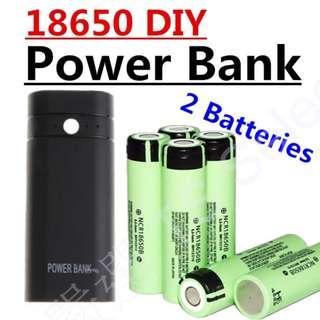 🚚 18650 行動電源 2節 免焊接 超大容量 內含日本原裝進口松下 18650 鋰電池 高容量 可更換電池 取代 小米 dual port DIY power bank case battery charger box with LED