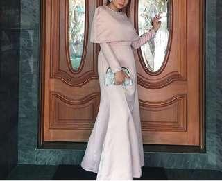 ZALIA CAPE DRESS