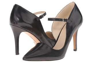 Nine West Black Leather Heels- US 7