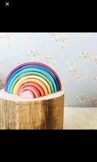 Colourful big wooden rainbow