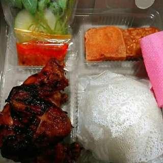 Paket nasi ayam bakar presto bumbu nasi box kotak catering prasmanan