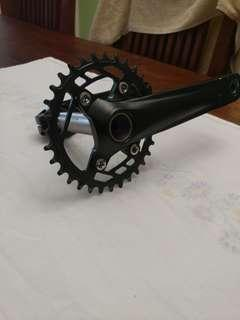 Prowheel charm TT crankset + Bottom Bracket