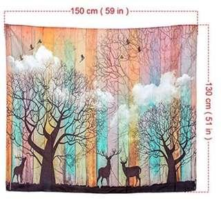 Brand new elk forest polyester tapestry or table cloth