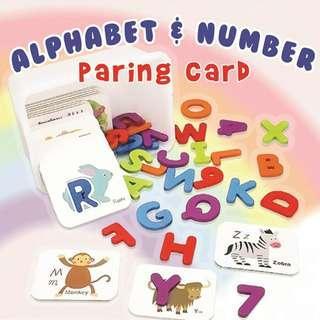 ALPHABET N NUMBER PARING CARD