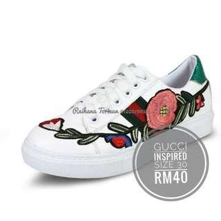 FREE POSTAGE Gucci Inspired Embroidery Kids Shoes