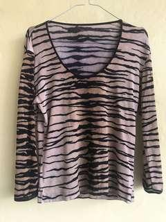 Preloved Tiger print long sleeve t-shirt