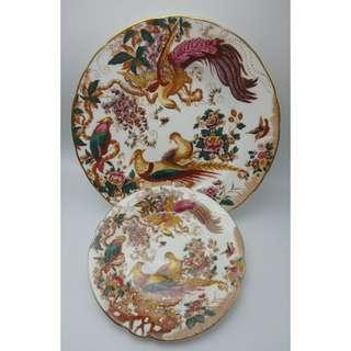 {HK-藏珍舖} Royal Crown Derby - Olde Avesbury - Dessert Plate - XL and saucer - XIV