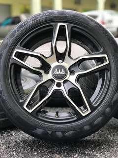 Vip status 14 inch sports rim viva elite tyre 70%